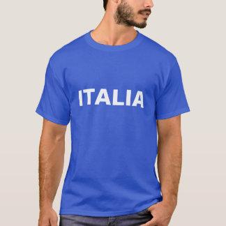 Men's Blue and White ITALIA T-Shirt