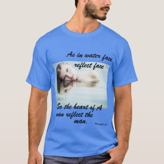 Men's Blue Face Reflect T-Shirt