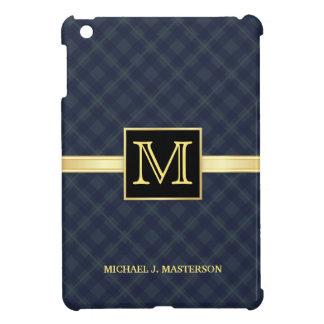 Men's Blue Plaid Monogram iPad Mini Cover For The iPad Mini