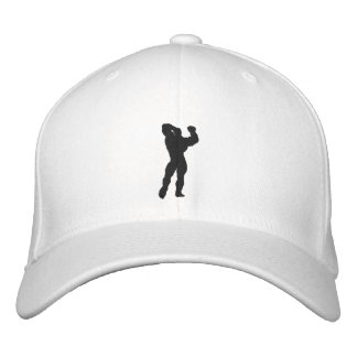 Mens Bodybuilding Pose Embroidered Baseball Cap