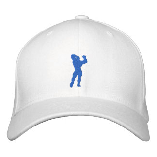 Mens Bodybuilding Pose Embroidered Baseball Caps