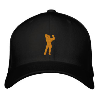 Mens Bodybuilding Pose Embroidered Hat