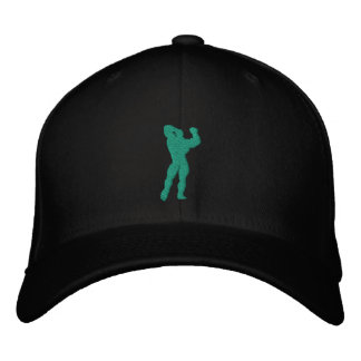 Mens Bodybuilding Pose Baseball Cap