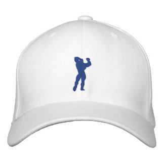 Mens Bodybuilding Pose Embroidered Hats