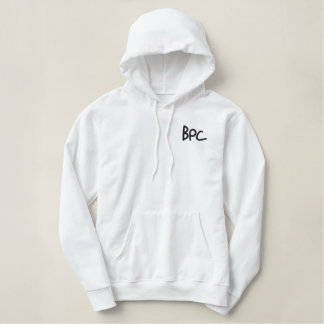 Men's BPC Hoodie (embroided) (wht/blk)