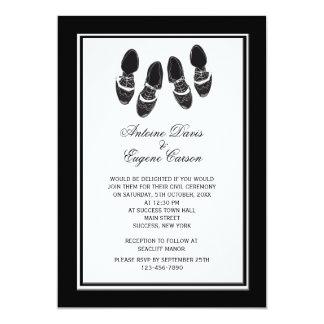 Mens Brogue Shoes Wedding Invitation