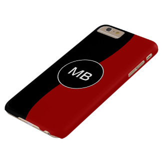 Men's Business Monogram Barely There iPhone 6 Plus Case