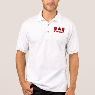 Mens' Canada Flag Polo Shirt Canada Golf Shirt