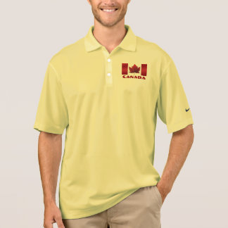 Men's Canada Flag Polo Shirt Canada Golf Shirt