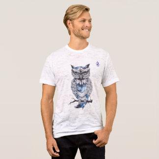 Men's Canvas Fitted Burnout Owl T-Shirt