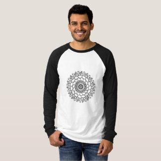 Men's Canvas Long Sleeve Raglan T-Shirt - Mandala
