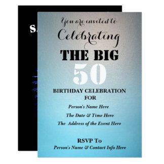 Men's Celebrating THE BIG (Any Age) - Card