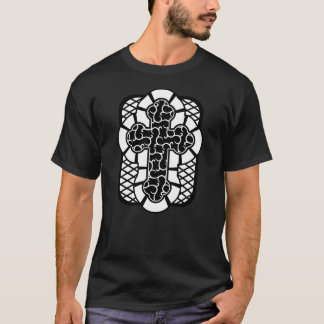 Men's Celtic Stained Glass Window Cross T-Shirt