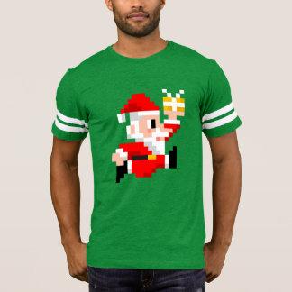 Men's Christmas Football Shirt: 8-Bit Santa Claus T-Shirt