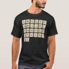 Men's Coloured Personalized Scrabble T-Shirt