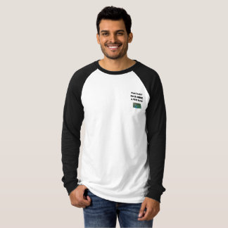 Men's Contrasting long sleeve Want Truth T-Shirt
