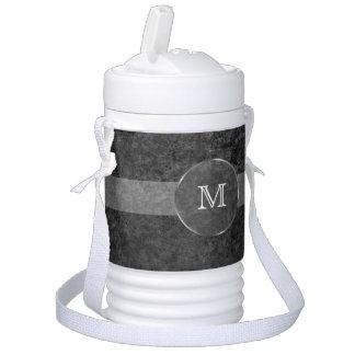 Men's Cool Monogram Grunge Background Drinks Cooler