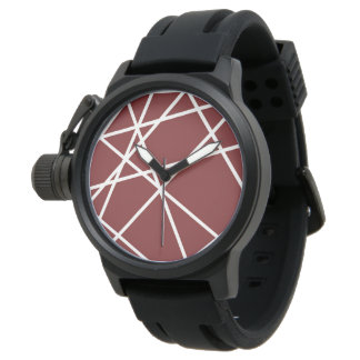 Men's Crown Protector Black Rubber Strap Watch WHI