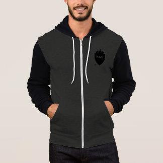 Men's Crowned King Canvas Zip-hoodie Hoodie