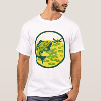 Mens Custom Largemouth Bass T-Shirt