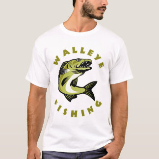 Mens Custom Walleye Fishing T-Shirt