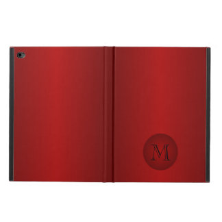 Mens Dark Red Gradient Monogram iPad Air 2 Case