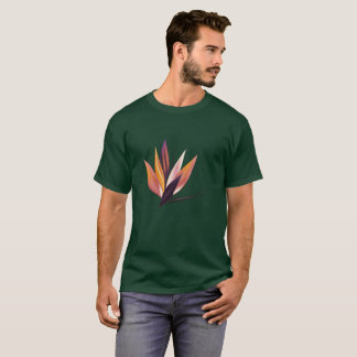 Mens design t-shirt with Exotic flower