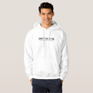 Mens Don't Hate Me Because I Have An Opinion White Hoodie