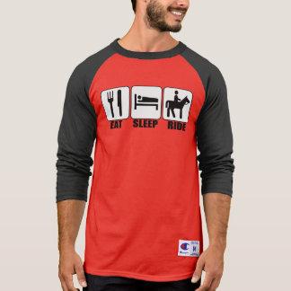 Men's Eat Sleep Ride Cowboy Horseback Rider Champs T-Shirt
