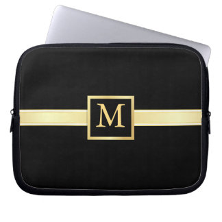 Men's Executive Style Monogram Laptop Skin Computer Sleeve