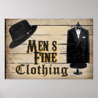 Men's Fine Clothing Poster