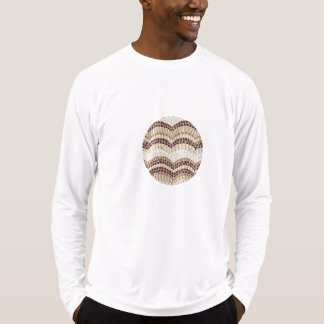 Men's fitted T-shirt with beige mosaic