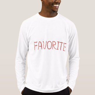 Men's fitted T-shirt with 'favorite'