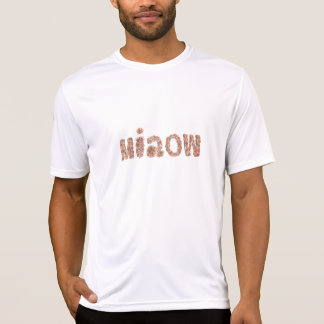 Men's fitted T-shirt with 'miaow'