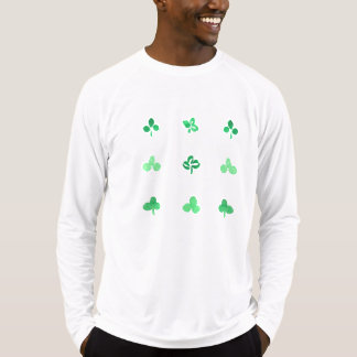 Men's fitted T-shirt with nine clover leaves