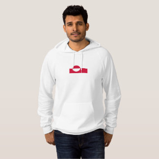 Mens Flag of Greenland Hoodie