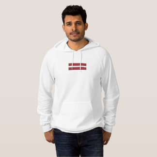 Mens Flag of Latvia Hoodie