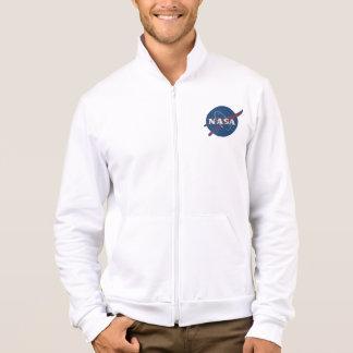 Mens Fleece Zip Jogger With Nasa Logo Jacket