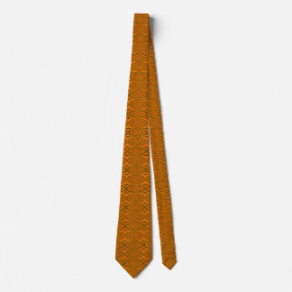Men's Fractal Brown Pattern Tie