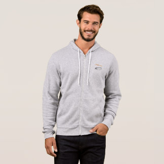 Men's full zip fishermen's hoodie
