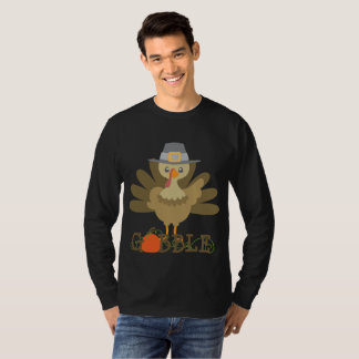 Mens fun Thanksgiving turkey gobble t-shirt