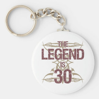 Men's Funny 30th Birthday Keychain