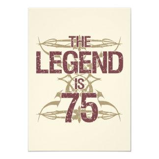 "Men's Funny 75th Birthday 5"" X 7"" Invitation Card"