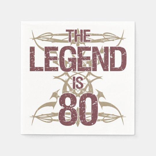 Men's Funny 80th Birthday Paper Napkin