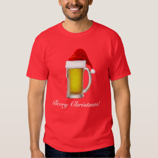 Mens Funny Beery Christmas Beer T Shirt