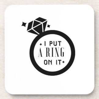 Men's Funny Engaged  Marriage Engagement Coaster