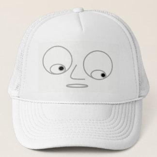 Men's Funny Face Design White Trucker Hat