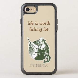Mens Funny Fishing Theme OtterBox Symmetry iPhone 8/7 Case