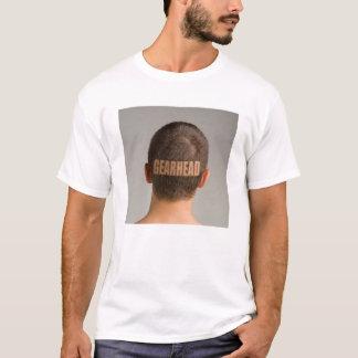 Mens Funny Gearhead Car TShirt Haircut Shaved Head