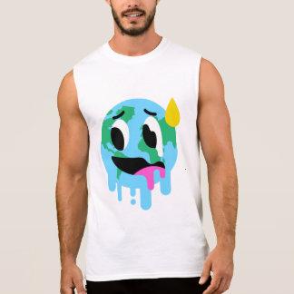 Men's Funny Global Warming Sleeveless T-Shirt